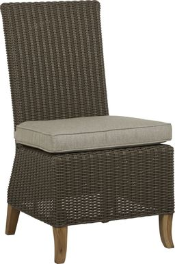 Patmos Brown Outdoor Side Chair