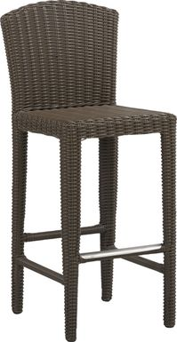 Patmos Brown Wicker Barstool