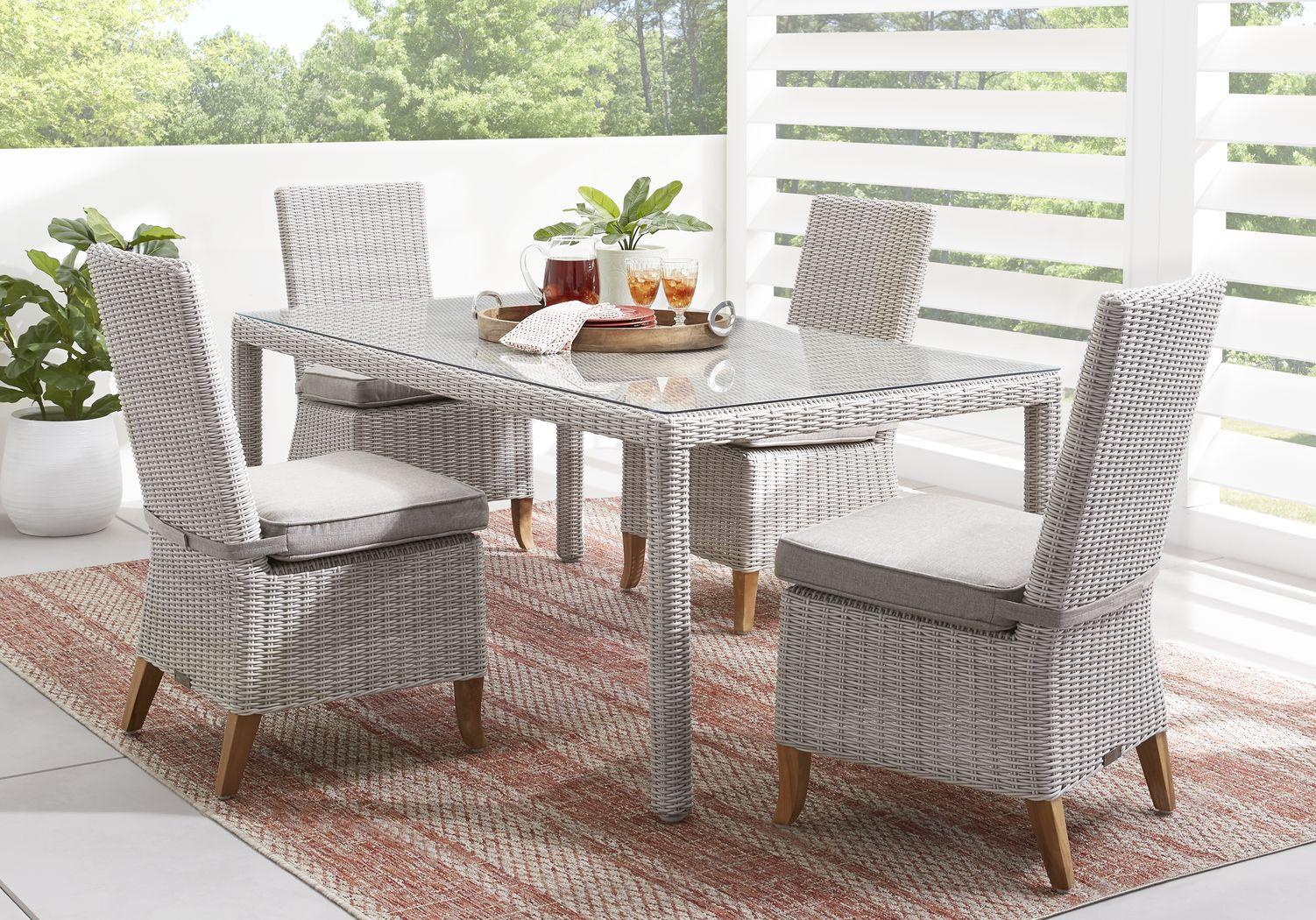 Patmos Gray 5 Pc Outdoor Dining Set