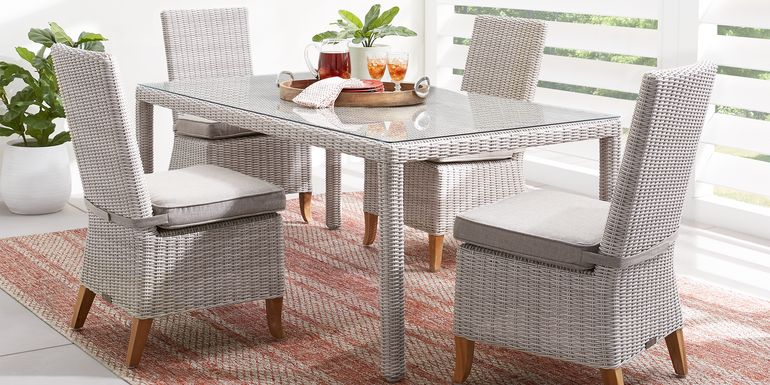 Patmos Gray 5 Pc Outdoor Dining Set