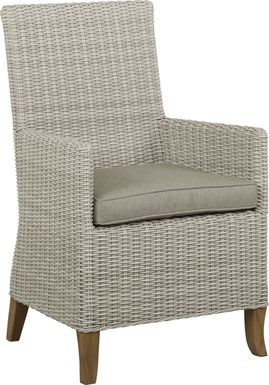 Patmos Gray Outdoor Arm Chair