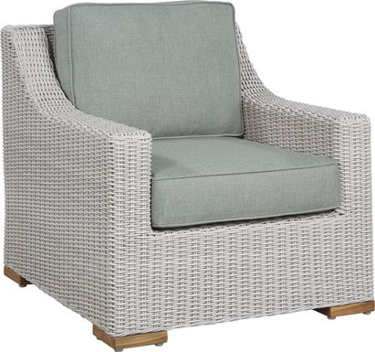 Patmos Gray Outdoor Chair with Moss Cushions