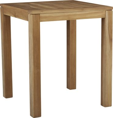 Patmos Teak 36 in Square Bar Height Dining Table