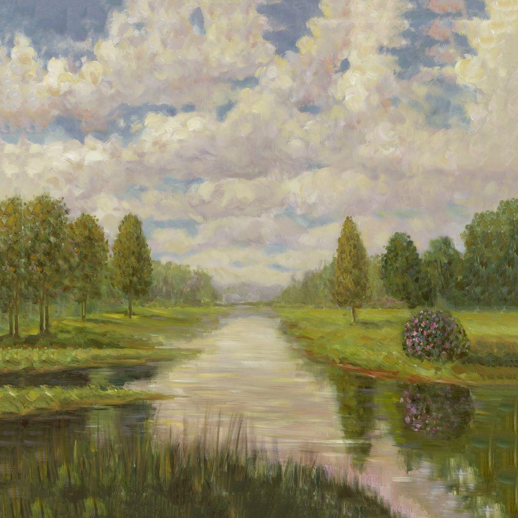 Peaceful Lake 5' Square Canvas Artwork