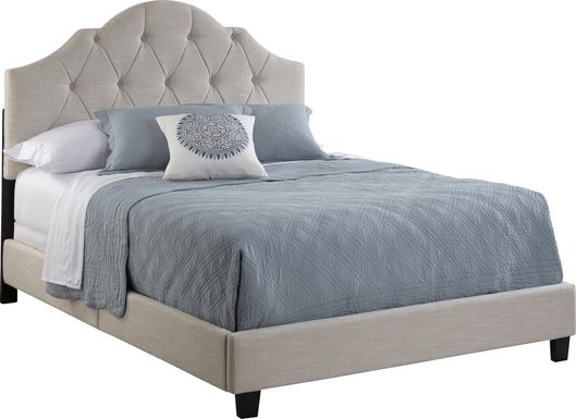 Penina Beige King Upholstered Bed