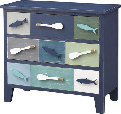 Penistone Blue Accent Cabinet
