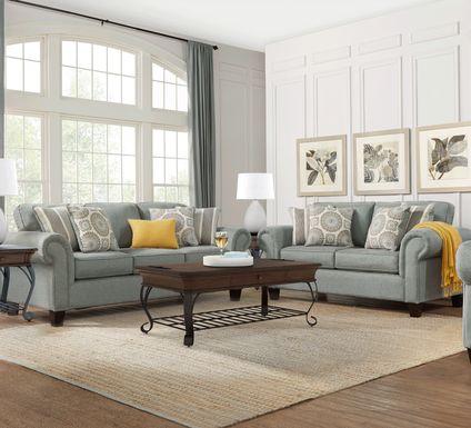 Pennington Blue 2 Pc Living Room