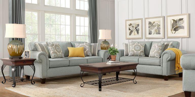 Pennington Blue 5 Pc Living Room