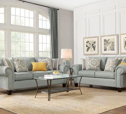 Pennington Blue 7 Pc Living Room