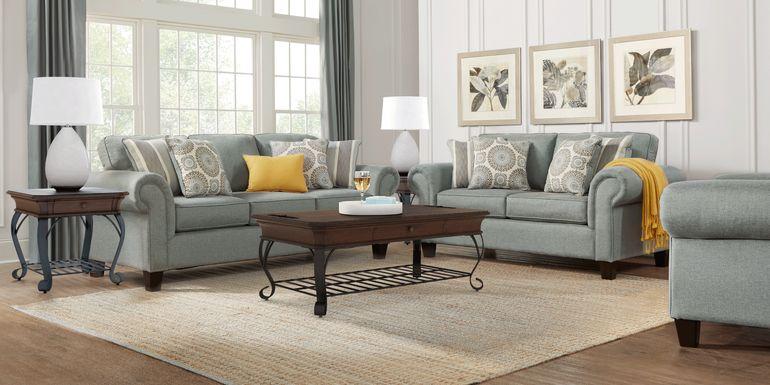 Pennington Blue 8 Pc Living Room