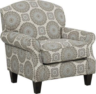 Pennington Blue Medallion Accent Chair