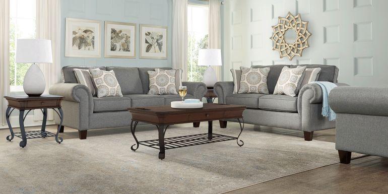 Pennington Gray 8 Pc Living Room