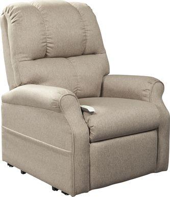 Pentonshire Beige Lift Chair Dual Power Recliner