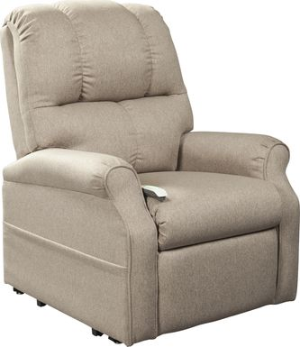 Pentonshire Beige Lift Chair Dual Power Recliner