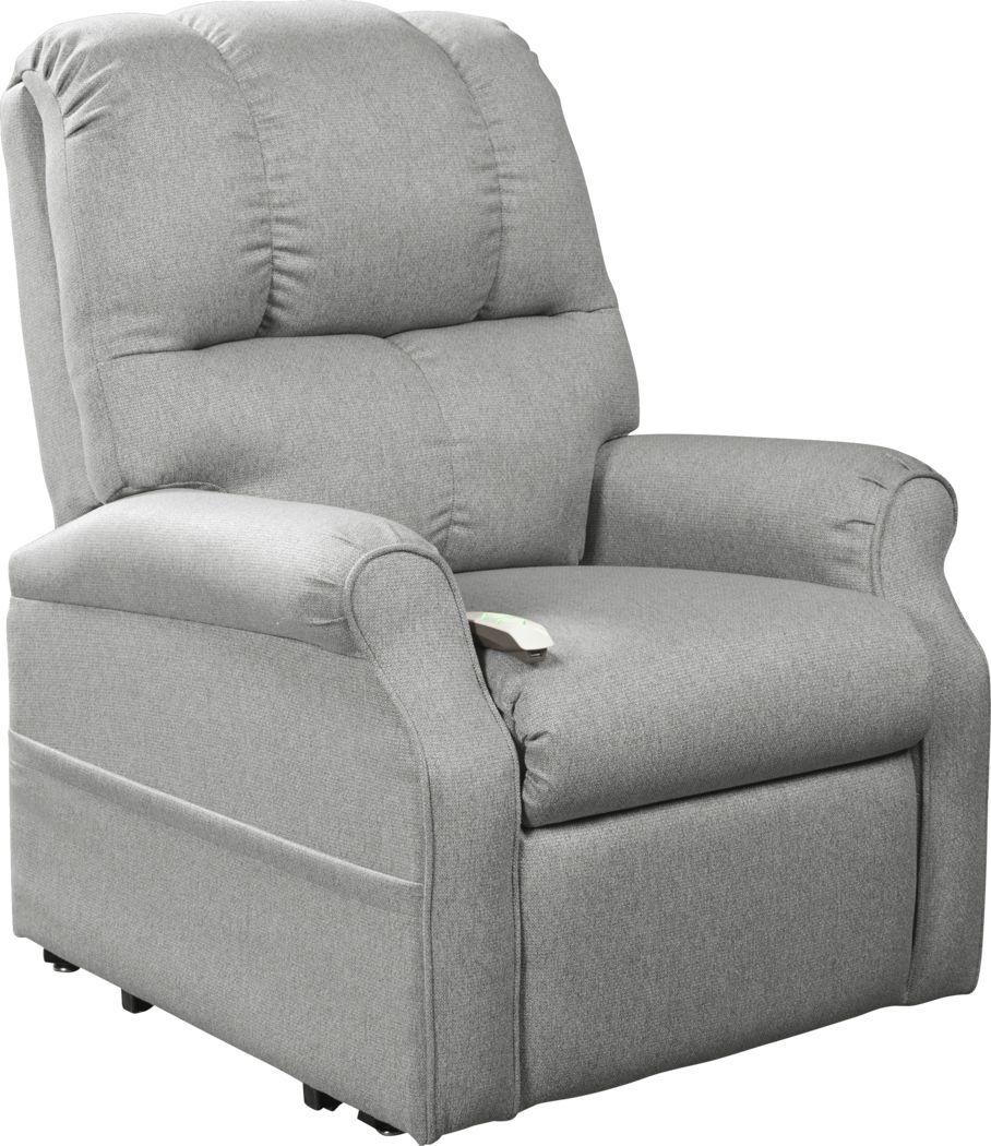 Pentonshire Gray Lift Chair Dual Power Recliner