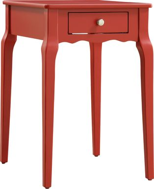 Percel Red Accent Table