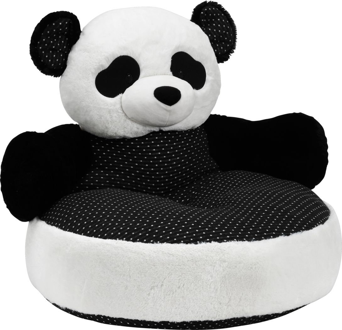 Percy Panda Black Toddler Chair