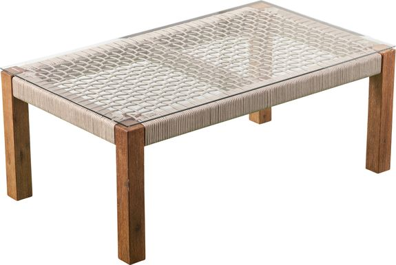 Pershington Outdoor Natural Cocktail Table