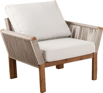 Pershington White Outdoor Accent Chair