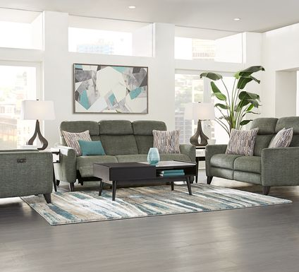 Pierceton Gray 3 Pc Living Room with Reclining Sofa