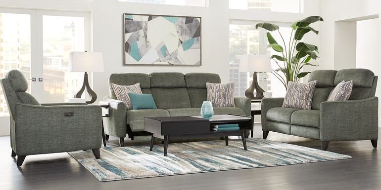 Pierceton Gray 3 Pc Living Room with Reclining Sofa