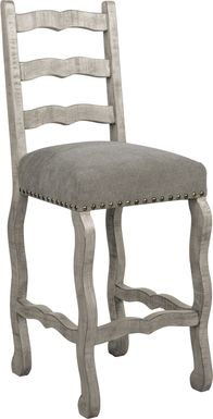 Cindy Crawford Home Pine Manor Gray Ladder Back Barstool