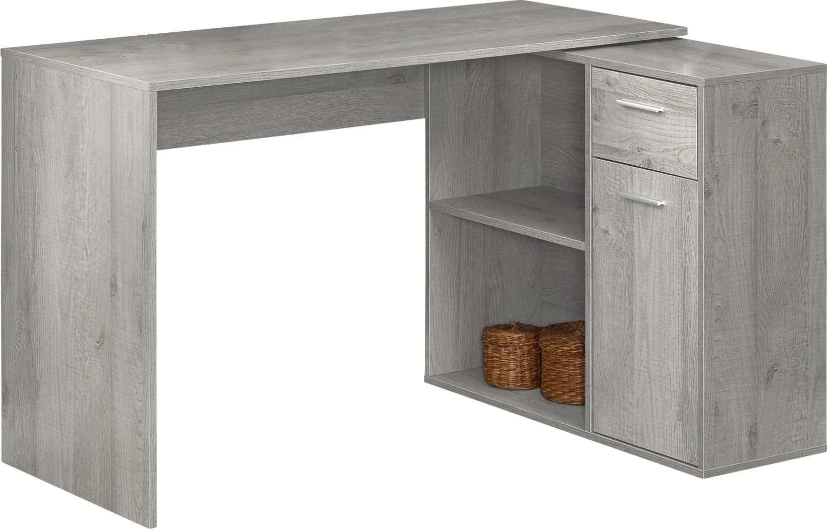 Pinestone Gray Desk