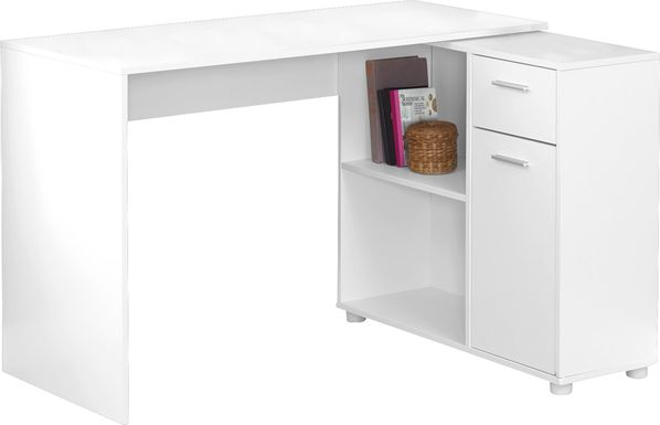 Pinestone White Desk