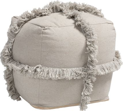 Pineview Court Gray Pouf