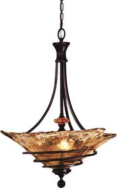 Piro Court Bronze Chandelier
