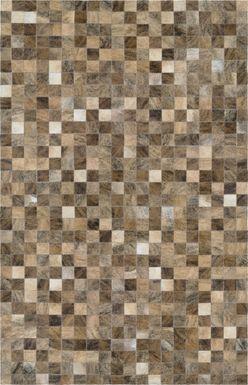 Pixel Brown 3'4 x 5'4 Rug