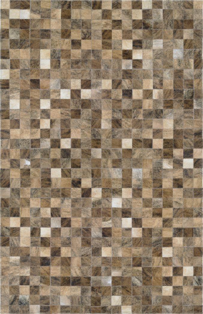 Pixel Brown 5'4 x 8' Rug