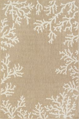Placida Sand 7'10 x 9'10 Indoor/Outdoor Rug