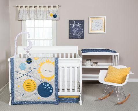 Planetary Slumbers Yellow 3 Pc Baby Bedding Set
