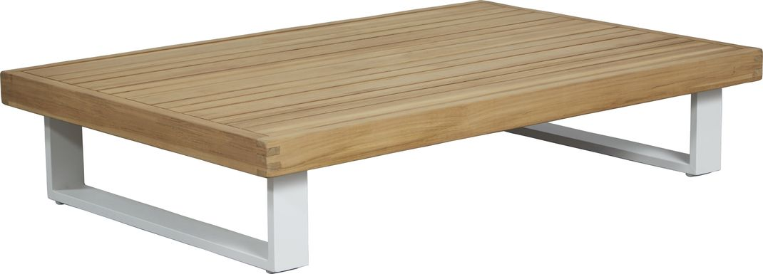 Platform Teak Outdoor Cocktail Table