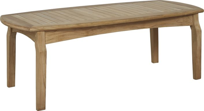 Pleasant Bay Teak Tan Cocktail Table