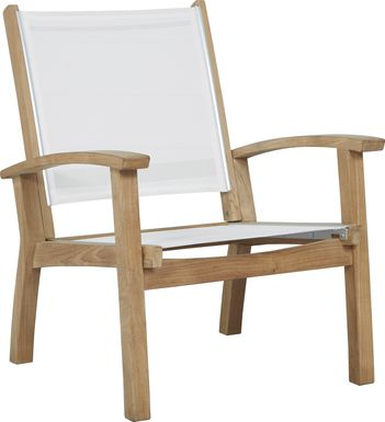 Pleasant Bay Teak Tan Outdoor Chat Chair