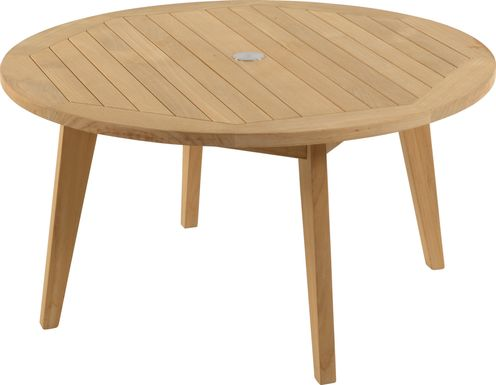 Pleasant Bay Teak Tan Round Outdoor Chat Table