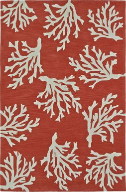 Poly Reef Orange 5' x 7'6 Rug