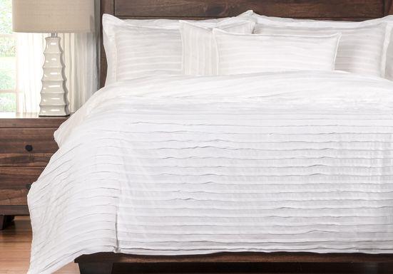 Pomeroy White 6 Pc Queen Duvet Set