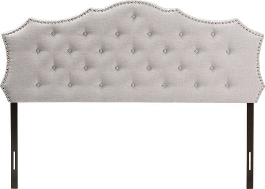 Poppleton Gray King Upholstered Headboard