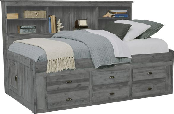 Portside Gray 3 Pc Twin Daybed with Storage