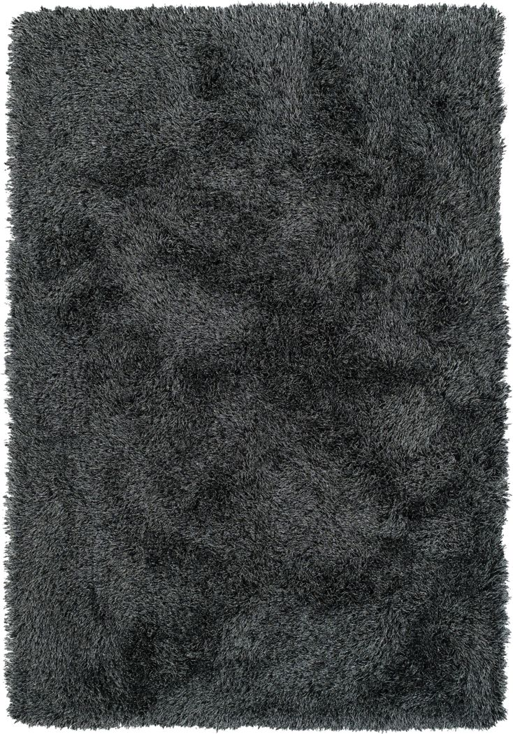 Posh Place Midnight Black 5' x 8' Rug