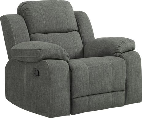 Prescott Point Gray Glider Recliner
