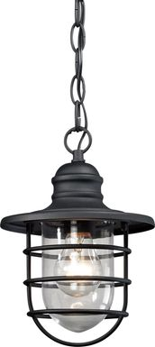 Prevatt Black Outdoor Chandelier