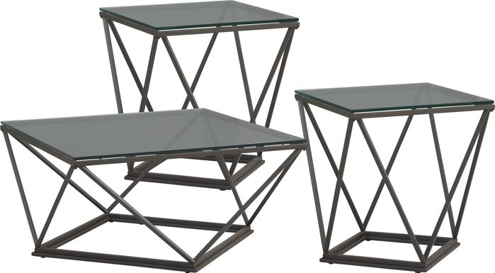 Prism Lane Black 3 Pc Table Set