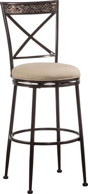 Pullman Bronze Outdoor Swivel Barstool