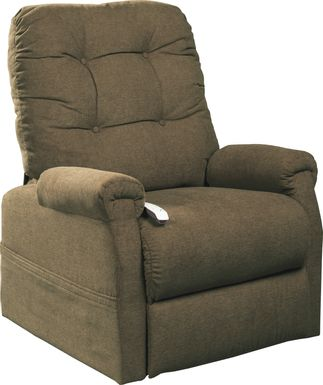 Pyron Beige Lift Chair Dual Power Recliner