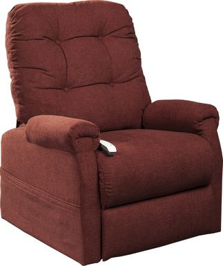 Pyron Red Lift Chair Dual Power Recliner