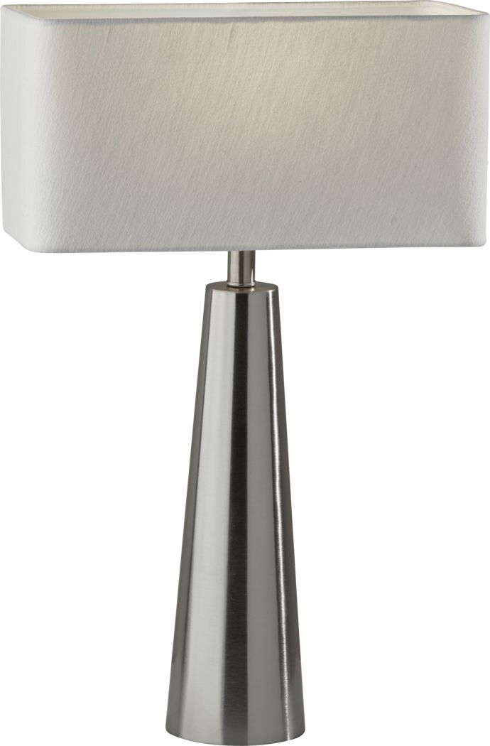 Quaker Lane Brushed Steel Lamp